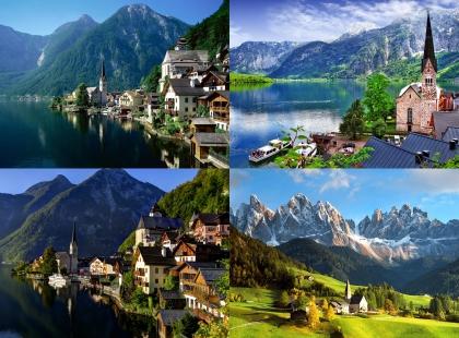 манящие горы в турах Австрии