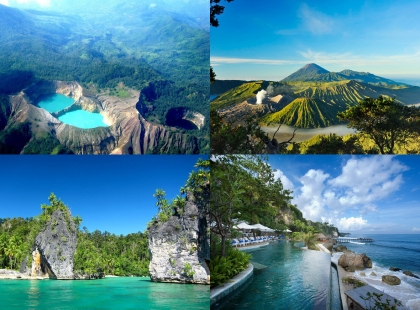 Индонезия - кратеры и вулканы