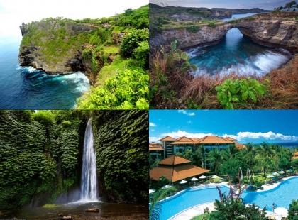 водопады и скалы Индонезии