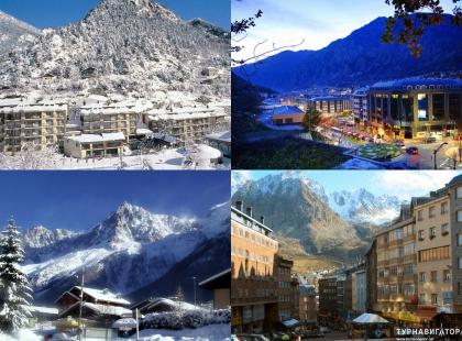 великолепие зимы Андорры
