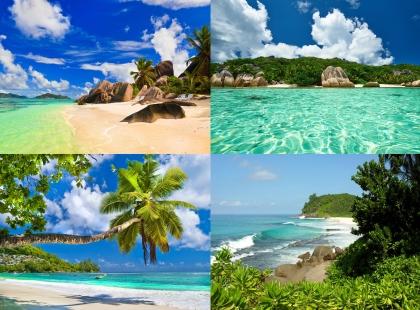 солнечные пляжи на Сейшельских Островах